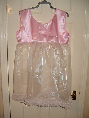 Gorgeous Adult Baby~Sissy~Maids Satin & Sheer Organza Frou~Frou Baby Dress