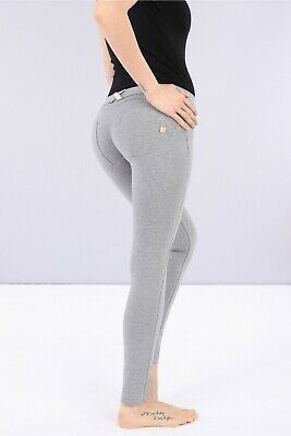 Freddy Wr.up® Shaping Effect - Low Waist Pants, Skinny Fit, Stretch Cotton -Grey
