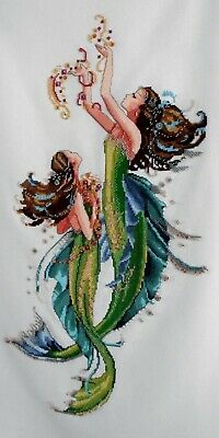 Mirabilia 'Mermaids Of The Deep Blue' Completed Unframed Cross Stitch Piece