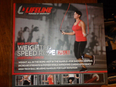 Lifeline USA Weighted Speed Jump Rope Red Heavy 0.75 lbs