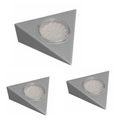 Set Led Foco Empotrable Triangular con Conector Plata Luz Encimera