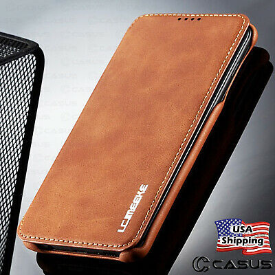 Leather Wallet Magnet Flip Cover Thin Slim Case For Samsung Galaxy S10/S10+ Plus