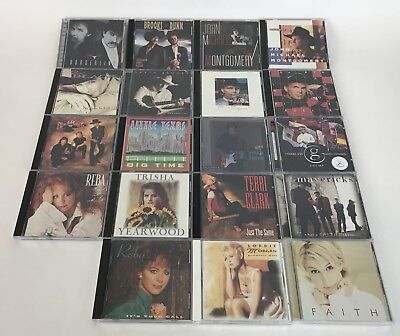 Lot of 19 Vintage Country Music CDs Reba Garth Brooks Faith Hill Brooks Dunn