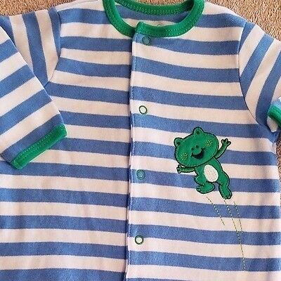 6652667c0 Clearance! Little Me 3 Month Blue & Green Frog Footed Sleep N Play Outfit