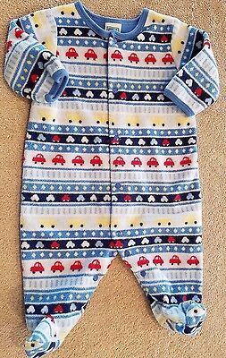 1b795b563 Clearance! Little Me 3 Month Blue Fleece Car Footed Sleep N Play Outfit