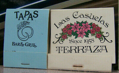 Vintage Matchbook G3 California Newport Beach Palm Springs Tapas Bar Grill Terra