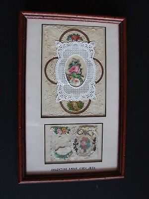 ANTIQUE PAPER LACE Valentines Card Hidden Message of Love in