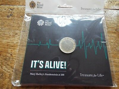 Royal Mint 2018 Frankenstein 200 year Anniversary £2 Two Pound BUNC Coin in Pack