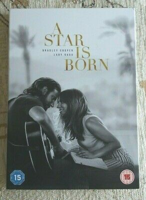A Star Is Born, Bradley Cooper, Lady Gaga, Region 2 Dvd +Uv, Only Watched Once