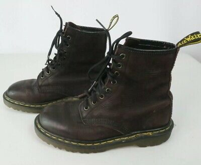 Vintage Doc Dr. Martens Purple 8-eye UK4 Euro 37 Leather Boots Made In England