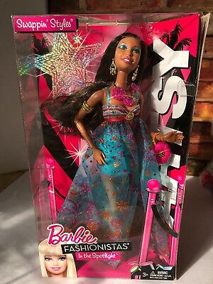 Barbie Fashionistas Artsy Doll Swapping Heads African American V7146 2010 NEW