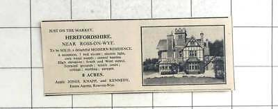 1936 7 Bedroom House Near Ross On Wye, 8 Acres, For Sale