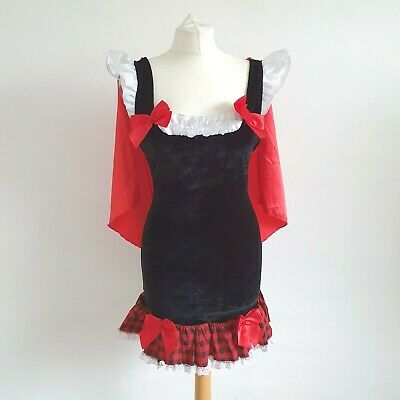 Kinky Little Red Riding Hood Fetish costume Sexy Dress Red black Silky hood S/M