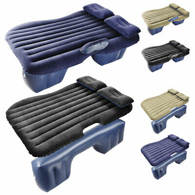 Inflatable Mattress Car Air Bed Backseat Cushion Travel Camping with Pillow Pump