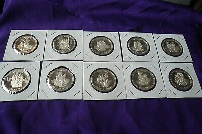 Johnson Matthey JM Set Of 10, 1 oz..999 Silver Bill of Rights Rounds Coins (135)