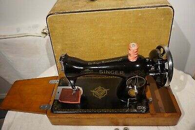 Vintage Singer 15K Semi Heavy Duty Sewing Machine, vintage Home Decor