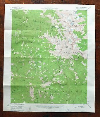 Mineral King California USGS Topo Map 1956 Sequoia National Park Silver City