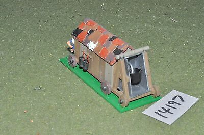 25mm classical / greek - ancient covered fire wagon - art (14197)