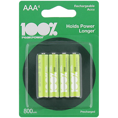 4 piles rechargeables BATTERIES ACCU LR03 AAA 800 mAh Neuves accus