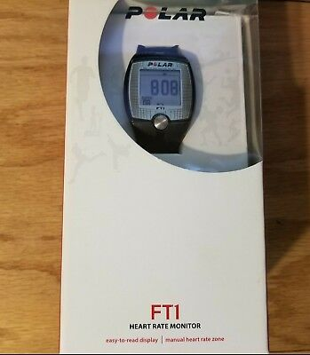 Polar FT1 Heart Rate Monitor Black Fitness Exercise Easy To Read New Sealed