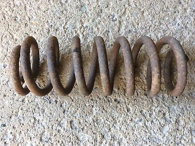 "Huge Heavy Vintage Metal Industrial Rusty Coil Spring Steampunk Art-15"" long."