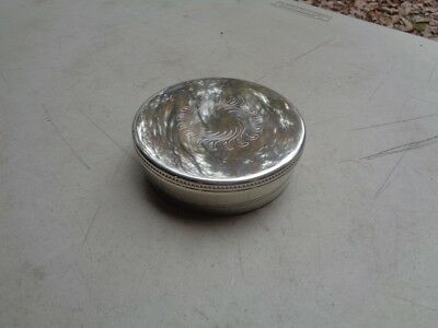 Salisbury Pewter Handcrafted Trinket Box w/ Engraved Inscription