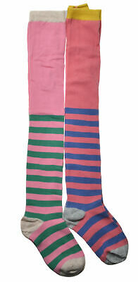 2 pairs of Stripe Girls Tights - Cotton Tights - Size 2-3yrs