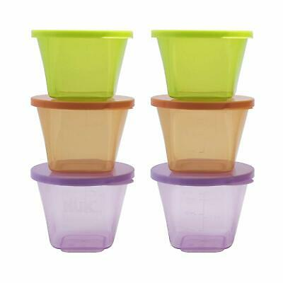 Baby Weaning Food Container Nuk Pots Freezer Feeding Storage with Lids  6 Pots