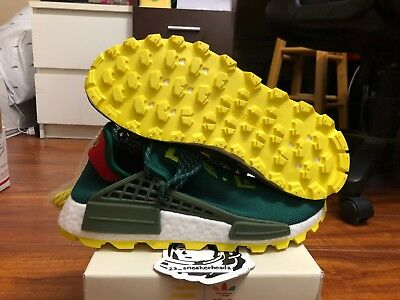 b9a304b8e8c09 Adidas NMD Pharell Williams Human Race Nerd Green sz 9 EE6297 DS 100%  Authentic