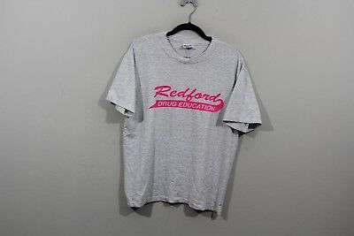 53f511b5 Vintage 90s Hanes 50/50 Mens Large Redford Michigan Drug Education T Shirt  Gray