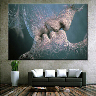 1Pcs Modern Deep Kiss Oil Painting Print Picture For Home Wall Art Decoration F