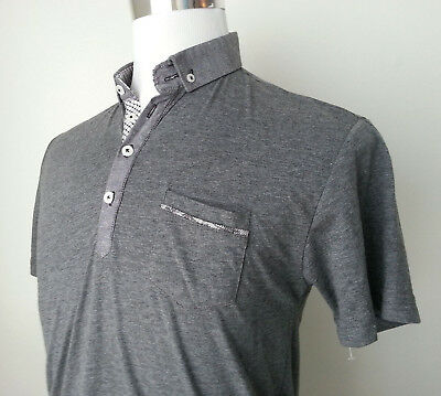 Steel & Jelly Men Size M Short Sleeve Polo Shirt Cotton Blend Button Down TURKEY