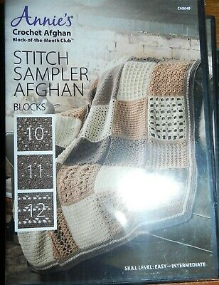 Annies Sampler 40 Stitch Block Afghan Tote More Annies