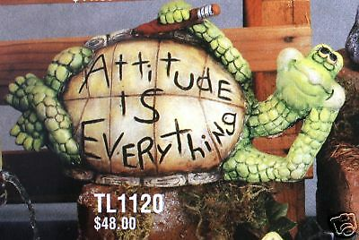 Ceramic Bisque Attitude Turtle Yard TL Design Mold 1120 U-Paint Ready To Paint