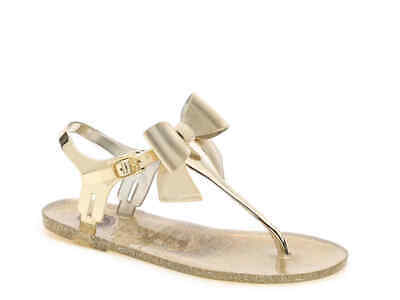 225f23f06734 BCBGENERATION BEENA JELLY Sandal Bow Accent Gold Size 6 -  28.99 ...