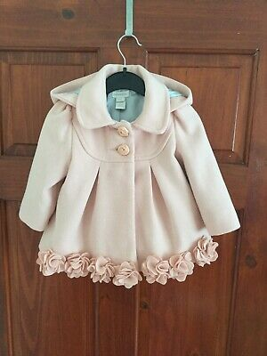 Monsoon Baby Girls Coat 6-12 Months