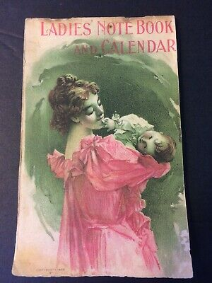 Vintage 1900 Ladies Note Book and Calendar - Dr. Pierce's Pleasant Pellets