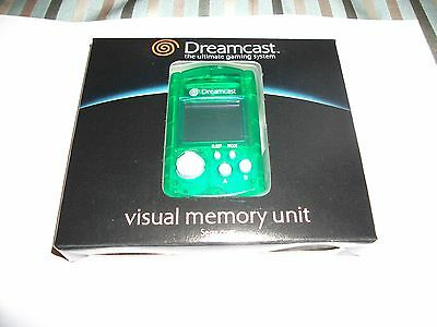 Genuine GREEN VMU - VISUAL MEMORY UNIT - SEGA DREAMCAST - RARE (NEW + BOXED)