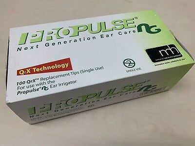 100 x Propulse NG QRX Replacement Tips Single Use for Propulse NG Ear Irrigator
