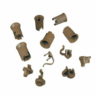 Novelty Lights 50 Pack C9 Replacement Sockets, Brown, SPT-1