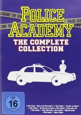 Complete Collection Police Academy Part 1 2 3 4 5 6 7 Cult Comedies 80's DVD Box