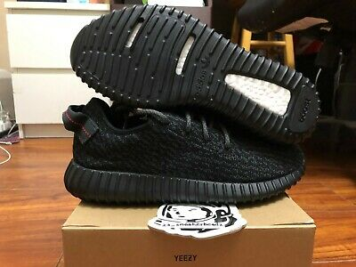 883d1ed49da ADIDAS YEEZY BOOST 350 Pirate Black Mens Size 5 Womens Size 7 100 ...
