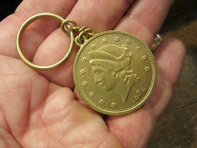 1874 Lady Liberty Gold Coin Jewelry Copy Medal Charm Keychain    (19C4)