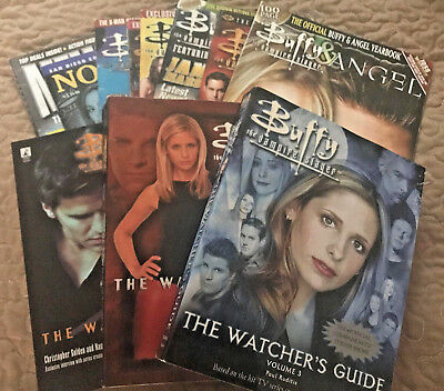 Buffy The Vampire Slayer Vintage Magazine Lot - 3 Yearbooks  Watcher's Guides