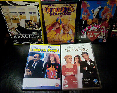 Bette Midler Dvd Bundle Lot Beaches Hocus Pocus The Rose Gypsy Big Business Etc