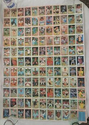 1989 Topps Big Baseball Card Uncut Sheet Loaded With Rookie Stars