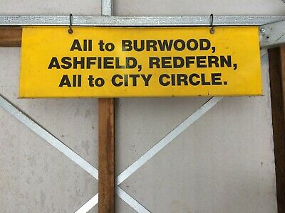 Nsw Railway Train Platform Destination Sign-Burwood Etc
