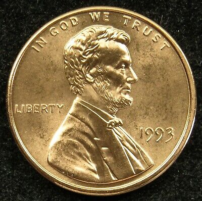 1993 Uncirculated Lincoln Memorial Cent Penny BU (B01)