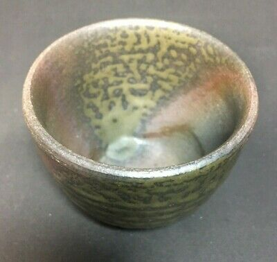 Japanese Bizen pottery Tea Cup Artist Signed