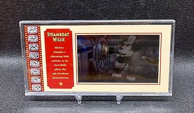 Rare Disney Showcase Mickey Mouse Steamboat Willie Lenticular Motion Cel #0943